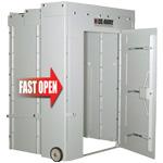 Hide-Away Storm Shelter easy deployment