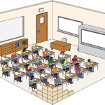 Detailed Classroom Diagram with Hide-Away School Safety Shelter