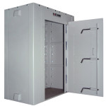 Stationary Hide-Away Storm Shelter Open