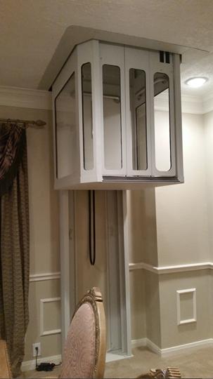 Elevator with modular see-thru hoistway