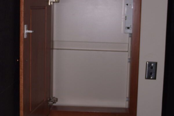 Bathroom Cabinet - Wood Stain